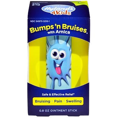 Для детей, мазь от ушибов и кровоподтеков с арникой, палочка для мази, 0,8 унций мази и крема при псориазе