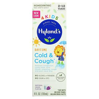 Hyland's, 4 Kids, Cold & Cough, Daytime, Ages 2-12, Natural Grape, 4 fl oz (118 ml)