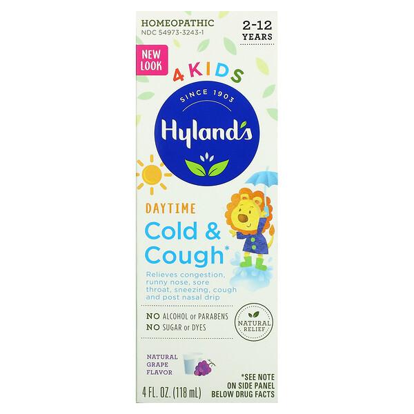 4 Kids، لعلاج نزلات البرد والسعال، نهاري، للأطفال بعمر 2-12 عامًا، 4 أونصة سائلة (118 مل)