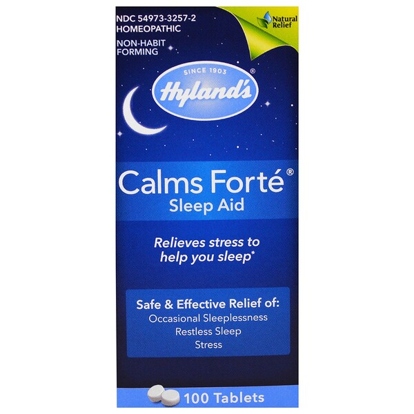 Hyland's, Calms Forté、Sleep Aid、100錠