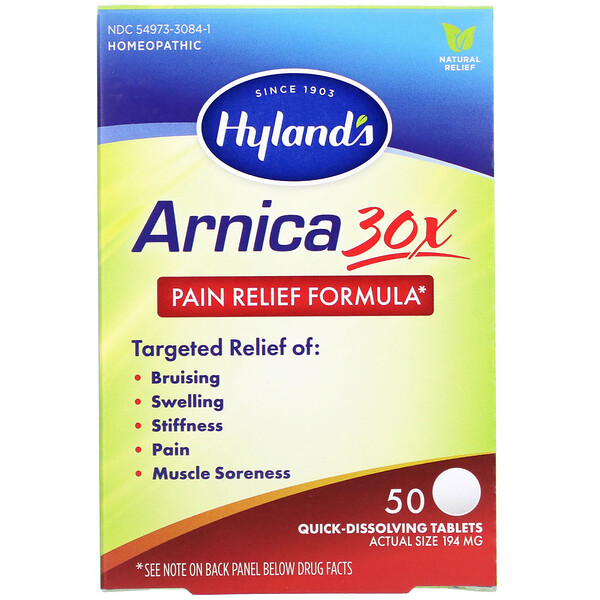Arnica 30X, 50 Quick-Dissolving Tablets