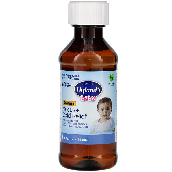 Baby, Mucus + Cold Relief, Daytime, Ages 6 Months +, 4 fl oz (118 ml)