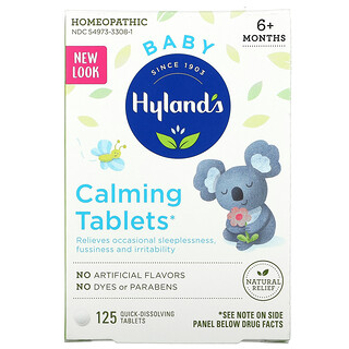 Hyland's, Baby, Calming Tablets, Ages 6 Months+,  125 Quick-Dissolving Tablets