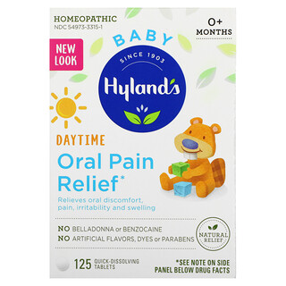 Hyland's, Baby, Daytime Oral Pain Relief, 0+ Months, 125 Quick-Dissolving Tablets
