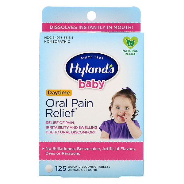 Hyland's, Baby, Oral Pain Relief Daytime, 125 Quick-Dissolving Tablets
