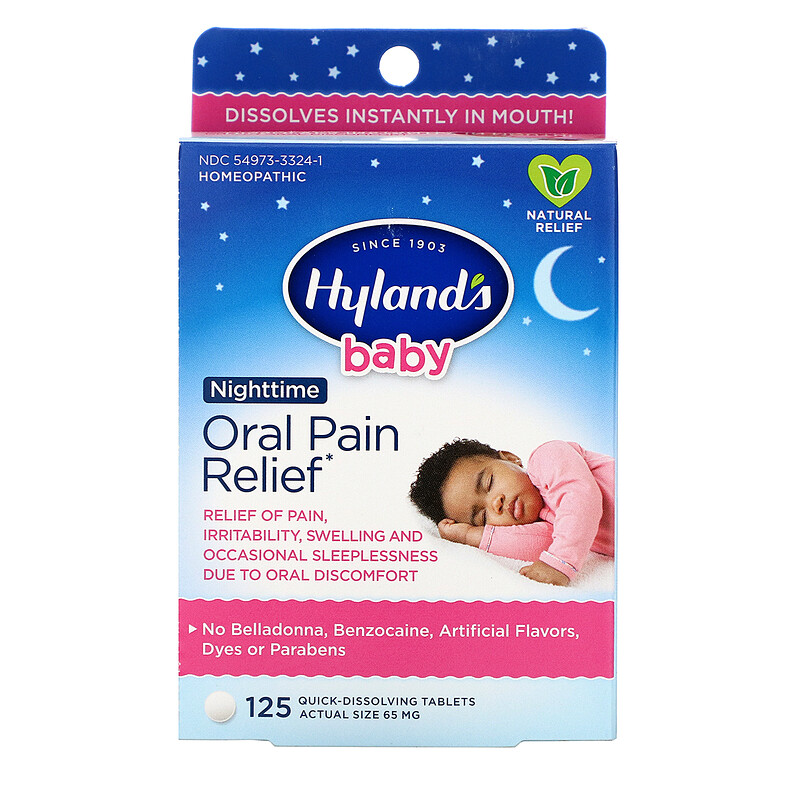Baby, Oral Pain Relief Nighttime, 125 Quick-Dissolving Tablets