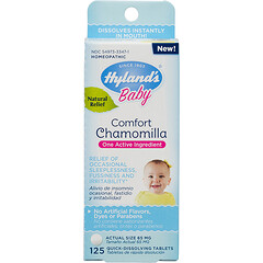 Hyland's, Baby, Comfort Chamomilla , 65 mg, 125 Quick-Dissolving Tablets