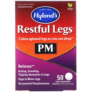 Hyland's, 睡前寧腿片劑,50片快速溶解片劑