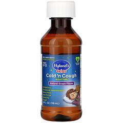 Hyland's, 4 Kids,夜間著涼咳嗽糖漿,2-12 歲,天然葡萄味,4 液量盎司(118 毫升)