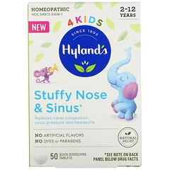 Hyland's,  4 Kids,鼻塞,2-12 歲,50 片即溶片
