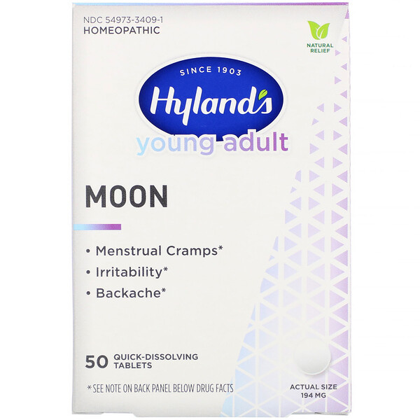 Young Adult, Moon, 194 mg, 50 Quick-Dissolving Tablets