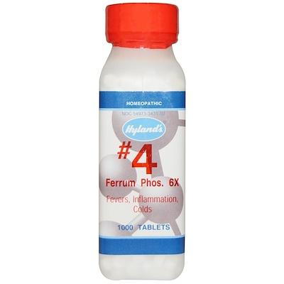 #4 Феррум Фосфорикум, Железа Фосфат 6х, 1000 таблеток