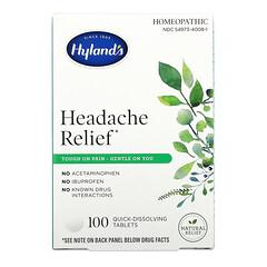 Hyland's, 頭部疼痛緩解劑,100 片即溶片