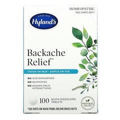 Hyland's, 緩解背部疼痛,100 片即溶片