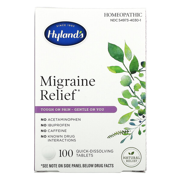 Hyland's, Migraine Relief, 100 Quick-Dissolving Tablets