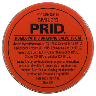 Hyland's, Smile's Prid Homeopathic Drawing Salve, 18 g