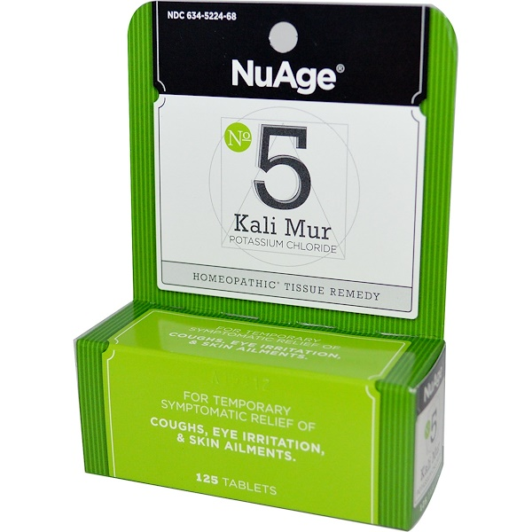 Hyland's, NuAge, No 5 Kali Mur Potassium Chloride, 125 Tablets (Discontinued Item)