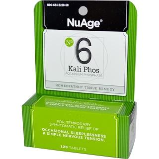 Hyland's, NuAge, No 6 Kali Phos, Potassium Phosphate, 125 Tablets