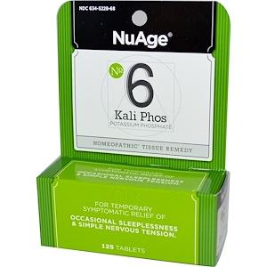 Хайлэндс, NuAge, No 6 Kali Phos, Potassium Phosphate, 125 Tablets отзывы