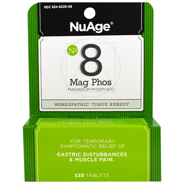 Hyland's, NuAge, No 8 Mag Phos, Magnesium Phosphate, 125 Tablets (Discontinued Item)