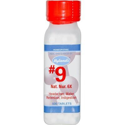 Nat Mur 6X, #9, 500 таблеток 1 calc fluor 6x 500 таблеток
