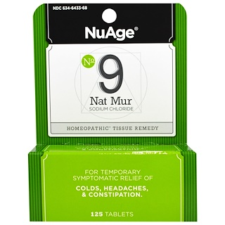 Hyland's, NuAge, No 9 Nat Mur, 125 Tablets