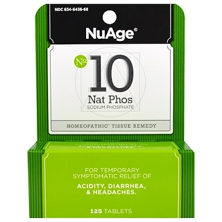 Hyland's, NuAge, No 10 Nat Phos, Sodium Phosphate, 125 Tablets