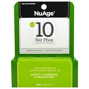 Хайлэндс, NuAge, No 10 Nat Phos, Sodium Phosphate, 125 Tablets отзывы