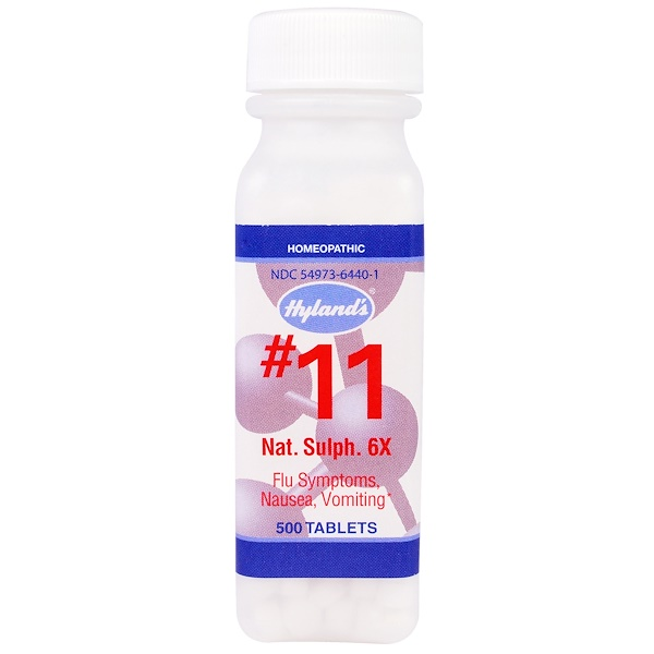 Hyland's, # 11 Nat. Sulph.(Сульфат Натрия)  6X, 500 таблеток (Discontinued Item)