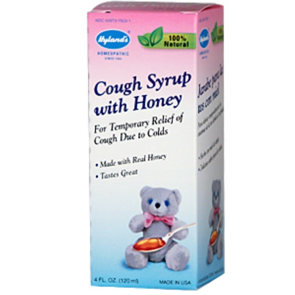 Hyland's, Cough Syrup With Honey, 4 fl oz (120 ml) (Discontinued Item)