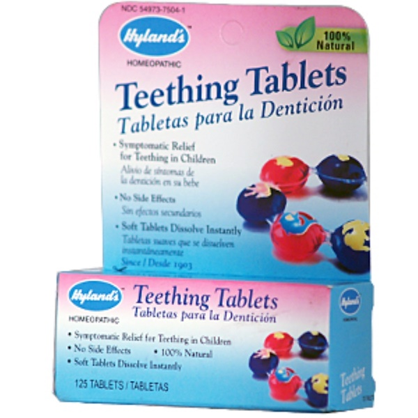 Hyland's, Teething Tablets, 125 Tablets (Discontinued Item)