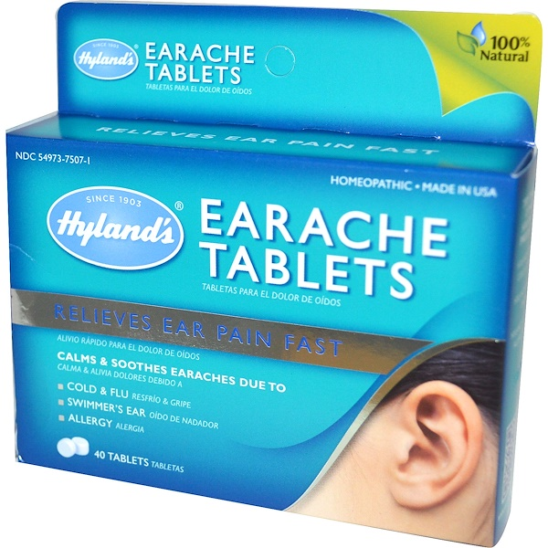 Hyland's, Earache Tablets, 40 Tablets (Discontinued Item)