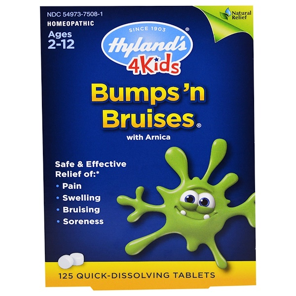 Hyland's, 4Kids, Bumps 'n Bruises with Arnica, 125 Quick-Dissolving Tablets