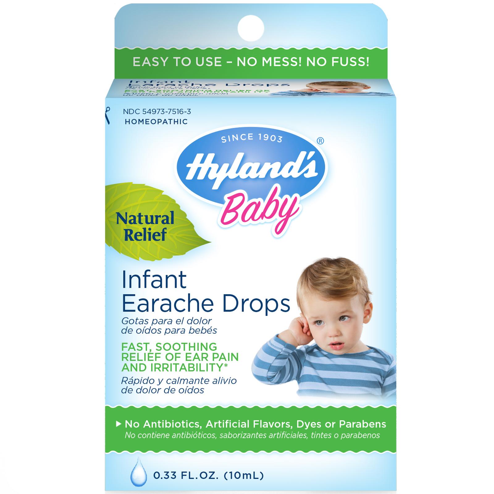 Hyland S Baby Infant Earache Drops 0 33 Fl Oz 10 Ml