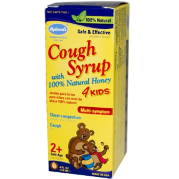 Hyland's, Cough Syrup 4 Kids, with 100% Natural Honey, 4 fl oz (118 ml) (Discontinued Item)