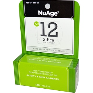 Hyland's, NuAge, No 12 Silica, Silicic Oxide, 125 Tablets