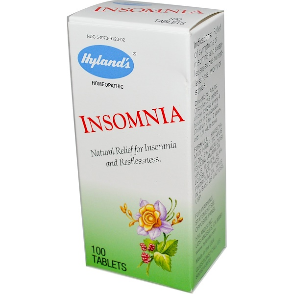 Hyland's, Insomnia, 100 Tablets (Discontinued Item)