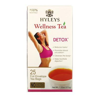 Купить Hyleys Tea Wellness Tea, Detox, 25 Tea Bags, 1.32 oz (37.5 g)