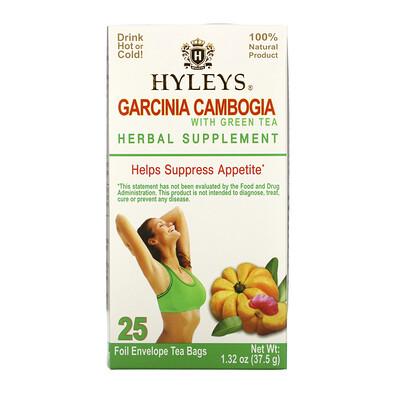 Купить HYLEYS Garcinia Cambogia with Green Tea, 25 Foil Envelope Tea Bags, 1.32 oz (37.5 g)