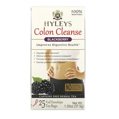 Купить Hyleys Tea Colon Cleanse, Blackberry, 25 Tea Bags, 1.32 oz (37.5 g)