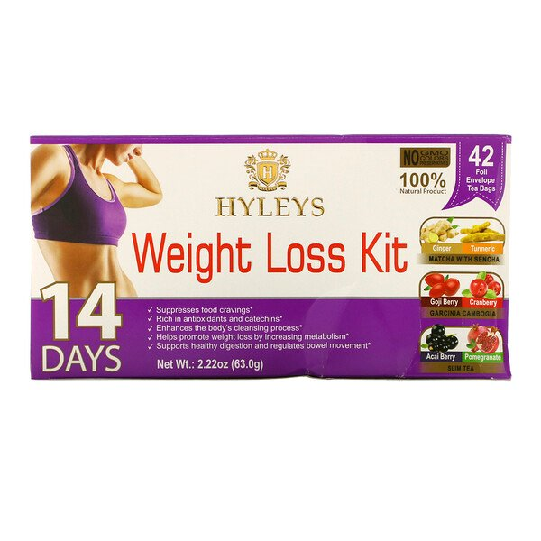 Hyleys Tea, 14 Days Weight Loss Kit, 42 Tea Bags, 2.22 oz (63 g)