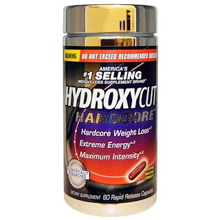 Hydroxycut, Hardcore, 60 Rapid Release Capsules