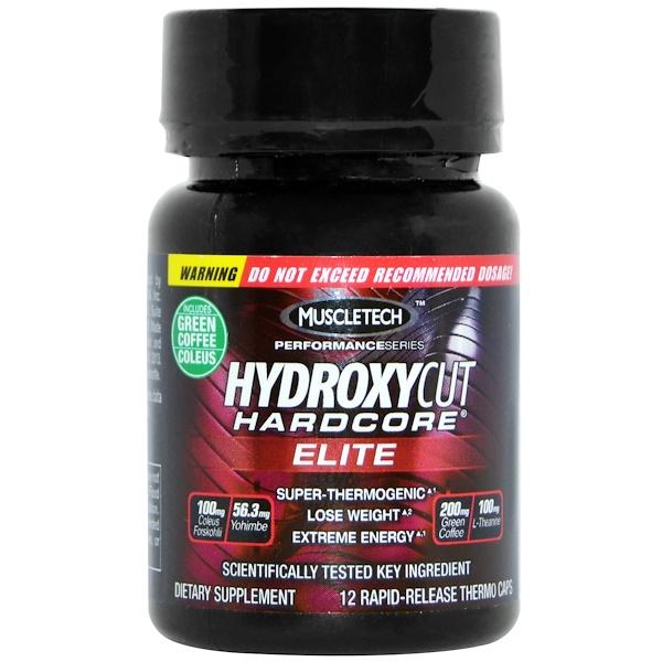 Hydroxycut, Hardcore Elite, 12 Rapid-Release Caps (Discontinued Item)