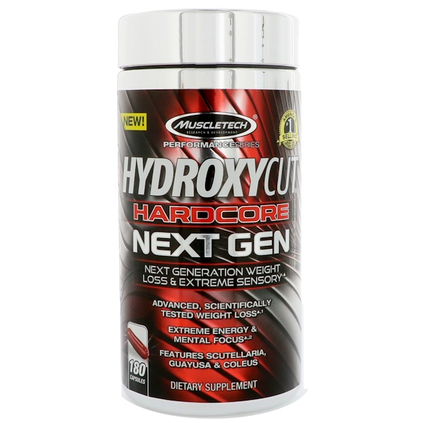 Hardcore Next Gen, Weight Loss, 180 Capsules