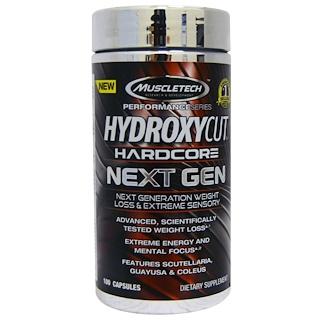 Hydroxycut, Hardcore de próxima geração, Redução de peso, 100 cápsulas
