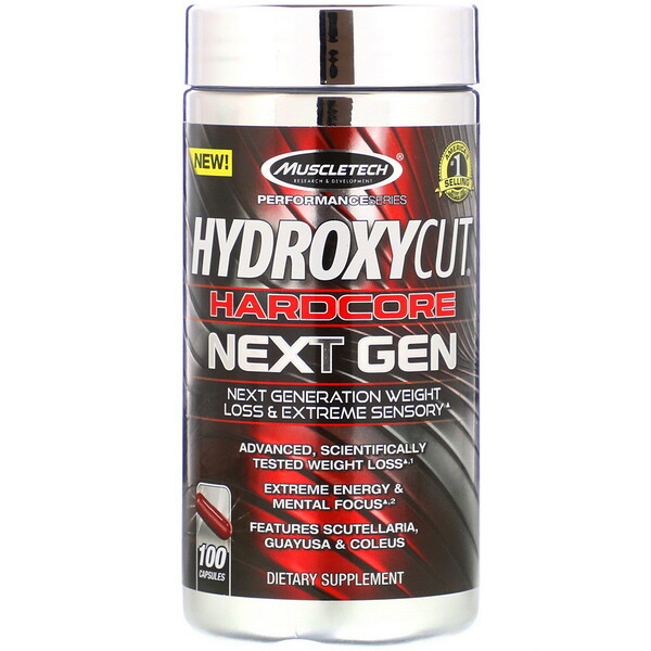 Hydroxycut, Hardcore Next Gen, Weight Loss, 100 Capsules