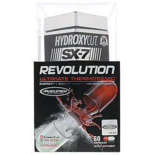 Hydroxycut, SX-7 Revolution Ultimate Thermogenic, 60 капсул