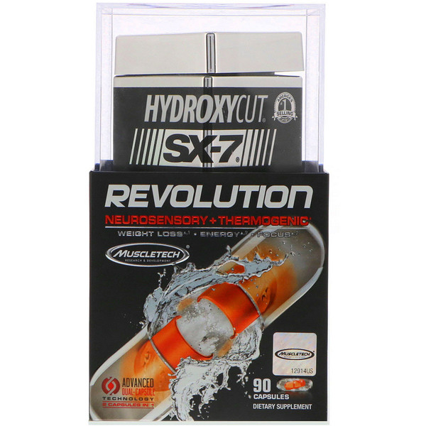 Hydroxycut, SX-7 Revolution, Neurosensory + Thermogenic, 90 Capsules (Discontinued Item)
