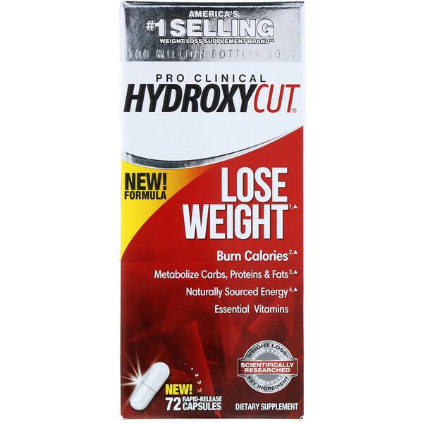 Pro Clinical Hydroxycut, Lose Weight, 72 Rapid-Release Capsules