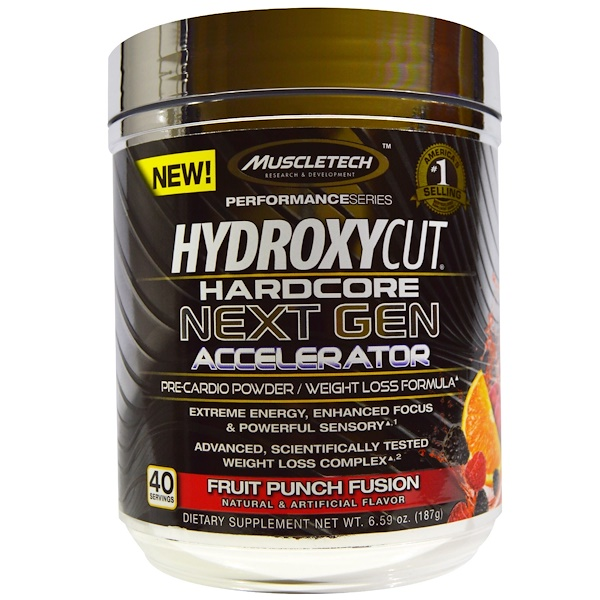 Hydroxycut, Hardcore Next Gen Accelerator, Fruit Punch Fusion, 6.59 oz (187 g) (Discontinued Item)